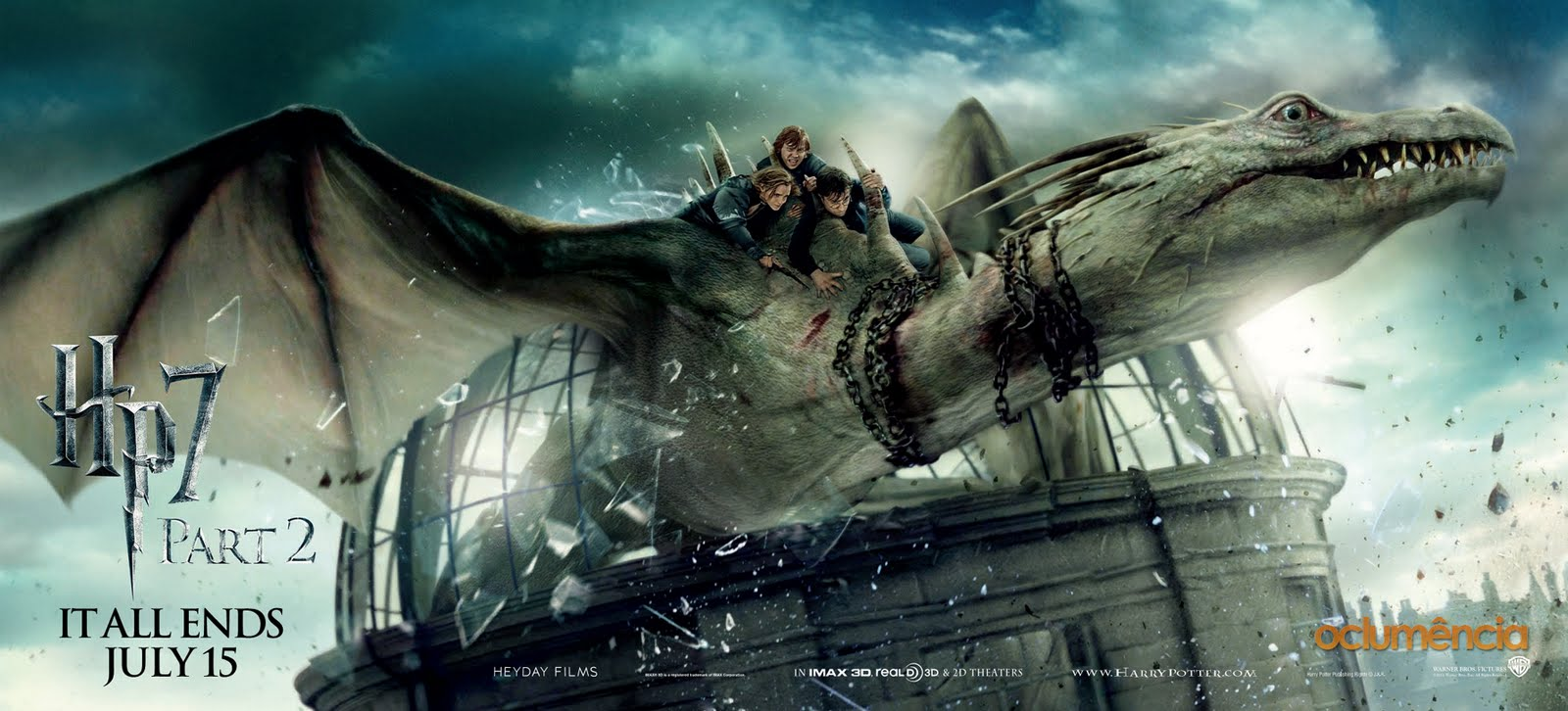 Harry Potter and the Deathly Hallows Part 2 Dragons, Dark ...
